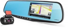 2v1 Kamera + GPS Lamax Drive S5 NAVI PLUS, zrcátko +zadní kamera