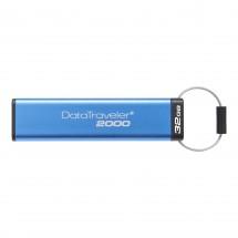 32GB Kingston USB 3.0 DT2000 256bit AES HW šifrování, keypad