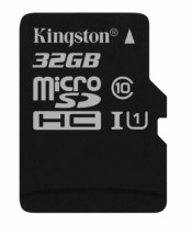 32GB microSDHC Kingston UHS-I U1 45R/10W