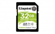32GB SDHC Kingston Canvas Select Plus U1 V10 CL10 100MB/s