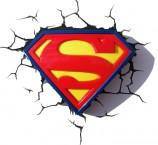 3D LIGHT FX světlo 3D Superman Logo ROZBALENO