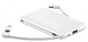 3v1 PowerbankaWG 5000mAh MicroUSB + USB Typ C + Lightning,bílá