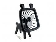 4World USB ventilátor Animal,silent Wave,černý