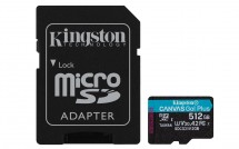 512GB microSDXC Kingston Canvas Go! Plus A2 U3 V30 170MB/s