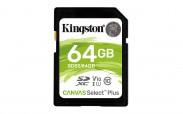 64GB SDXC Kingston Canvas Select Plus U1 V10 CL10 100MB/s