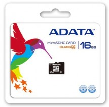 A-Data micro SDHC 16GB class 4 + adaptér