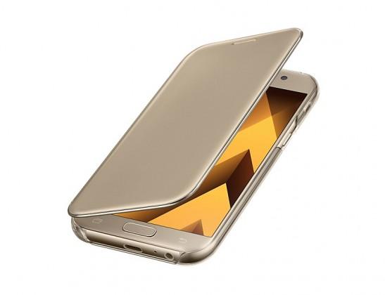A5 (2017) Flipové pouzdro Clear View Gold