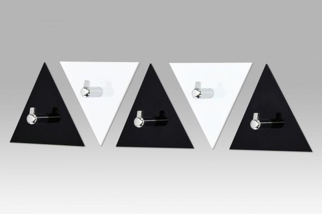 AC-13 BC - set nástěnných věšáků, 5 ks (černá/bílá)