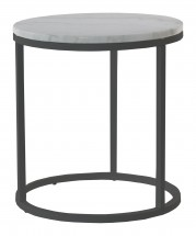 Accent - Konferenční stolek kruhový, vyšší (mramor, černá)