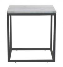 Accent - Konferenční stolek, tmavý rám (přírodní mramor, ocel)