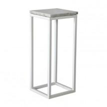 Accent - Přístavný stolek, čtverec, nižší (mramor, bílá)