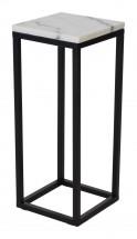 Accent - Přístavný stolek, čtverec, nižší (mramor, černá)