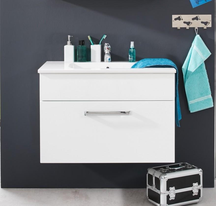 Adamo - Umyvadlová skříňka 80 cm - 1 zásuvka (bílá)