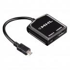"""Adapter microUSB/HDMI MHL Hama """