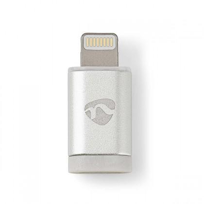 Adaptér Nedis Micro USB na Lightning, stříbrná