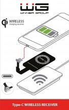 Adaptér/podložka pro bezdrátové nabíjení Qi s USB Typ C