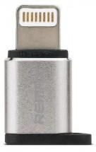 Adaptér Remax Micro USB na Lightning, stříbrná