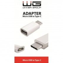 Adaptér WG Micro USB na USB Typ C, bílá