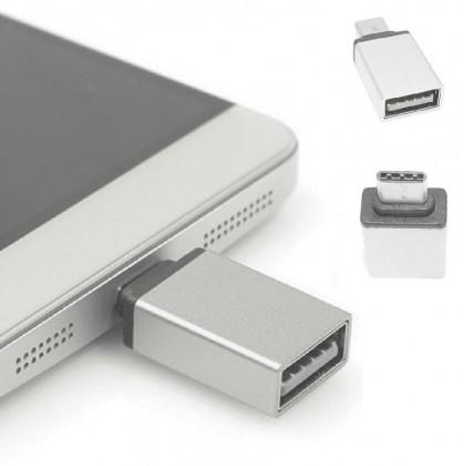 Adaptér WG USB na USB Typ C s OTG, stříbrná