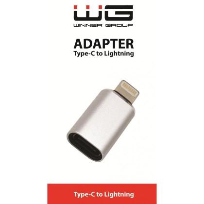 Adaptéry Adaptér Type C to Lightning, stříbrná