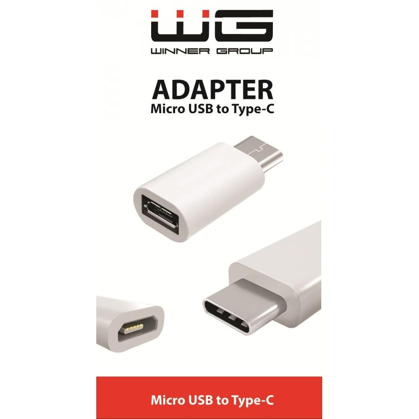 Adaptéry Adaptér WG Micro USB na USB Typ C, bílá