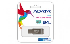ADATA DashDrive UV131 64GB, USB 3.0, kovová