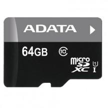ADATA Micro SDXC Premier 64GB + adaptér AUSDX64GUICL10-RA1