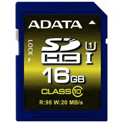 ADATA SDHC karta 16GB UHS-1 U1 (Class 10), Premier Pro