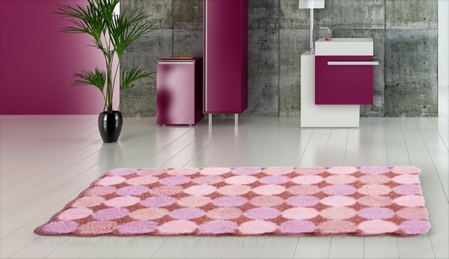 Agarthi - Koupelnová předložka 70x120 cm (broskvová-růžová)