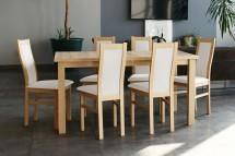 Agáta - Set 6x židle, 1x stůl + rozklad (sonoma/madryt 120)