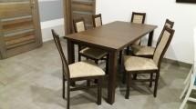 Agáta - Set 6x židle, 1x stůl + rozklad (wenge/berlin 03)