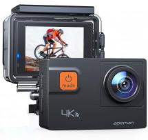 """Akční kamera Apeman A80 2"""", 4K, WiFi, 170° + přísl."""