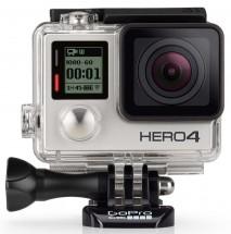 Akční kamera GoPro Hero 4, 4K, WiFi, BT, 170°, stříbrná