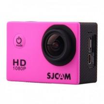Akční kamera SJCAM SJ4000 + hromada příslušenství, růžová