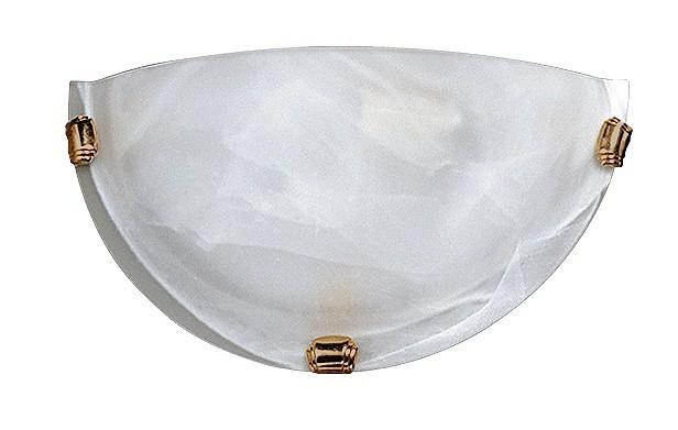 Alabastro - Nástěnná svítidla, E27 (bílá alabastrová/bronzová )