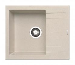 Alazia-Granit. dřez 59x50,béžová