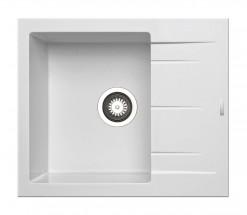 Alazia-Granit. dřez 59x50,bílá