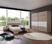 Alina - Komplet 2, postel 160 cm (dub, alpská bílá)