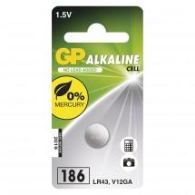 Alkalická knoflíková baterie GP LR43 (186F), 1 ks