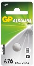 Alkalická knoflíková baterie GP LR44 (A76F), 1 ks v blistru