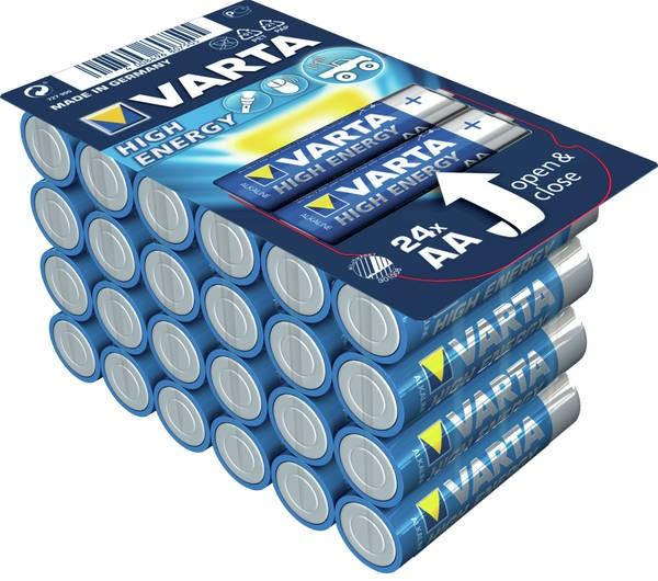 Alkalické baterie Alkalické baterie Longlife Power AA 24ks