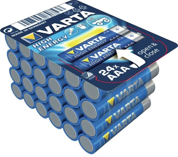 Alkalické baterie Alkalické baterie Longlife Power AAA 24ks