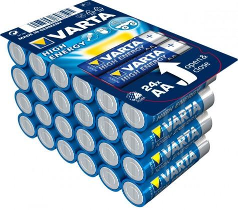 Alkalické baterie Alkalické baterie VARTA HIGH ENERGY AA 24ks