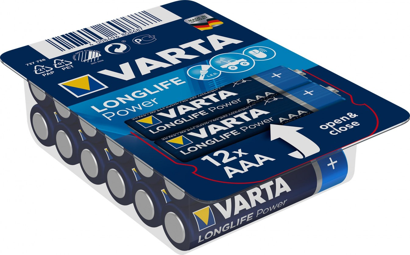 Alkalické baterie Alkalické baterie VARTA HIGH ENERGY AAA 12ks