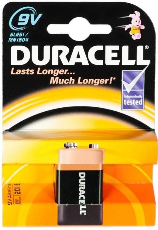 Alkalické baterie Baterie Duracell Basic 6LR61 9V (10PP100010)