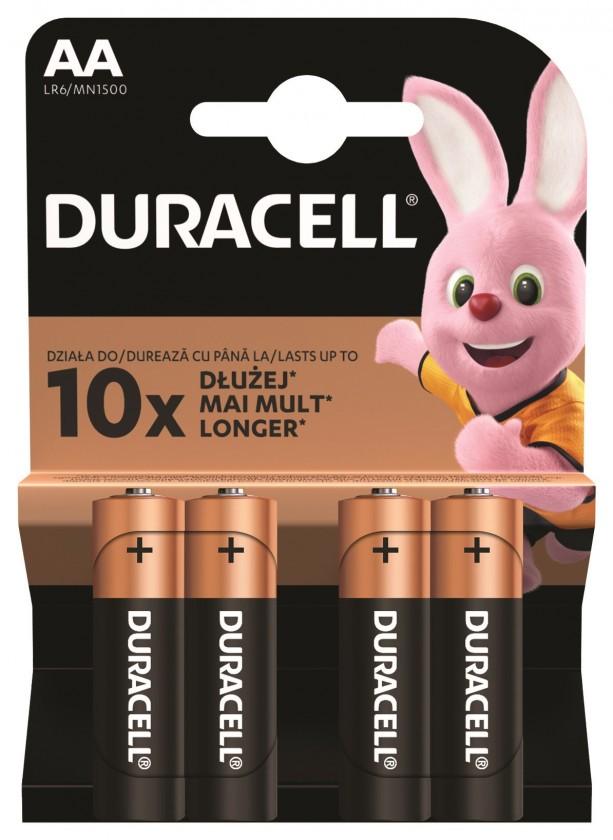Alkalické baterie Baterie Duracell Basic, AA, 4ks