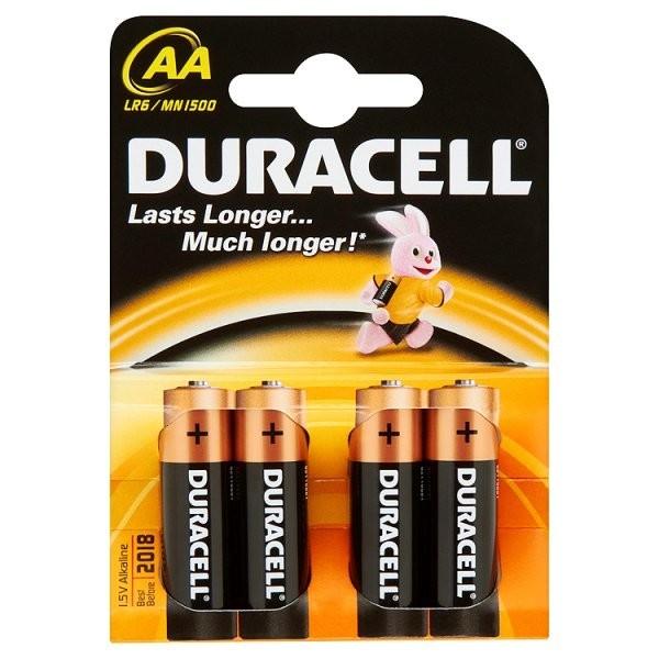 Alkalické baterie Baterie Duracell Basic AA 4ks