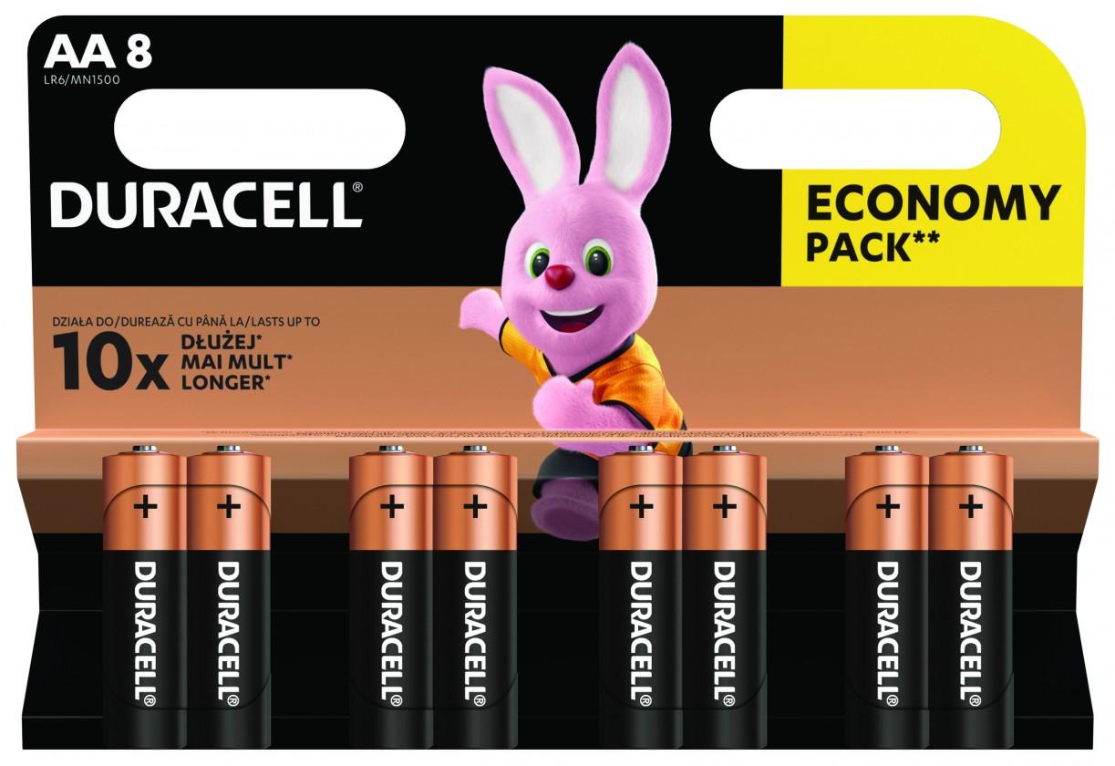 Alkalické baterie Baterie DURACELL Basic,AA,8 ks