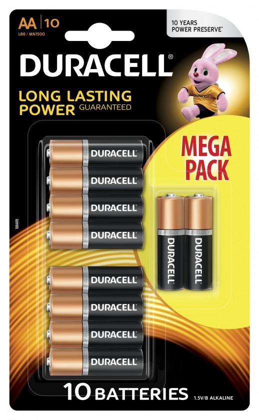 Alkalické baterie Baterie Duracell basic AA