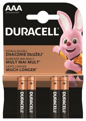 Alkalické baterie Baterie Duracell Basic, AAA, 4ks